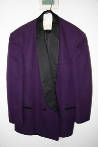 Raffinati PURPLE tuxedo - with black lapel.