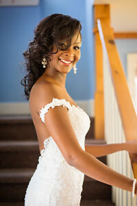 Luxurious custom designed and custom made backless gown