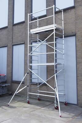 Basic rolsteiger 6 meter werkhoogte, met extra vloer, gebruikt tweedehands  Nederland