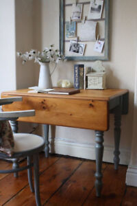 Small vintage wooden dining table