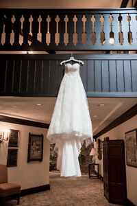 Beautiful A-line Sweetheart Wedding Dress with lace and beading