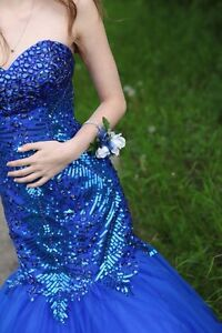OBO: Blue graduation dress. Worn once, like new. Regina Regina Area image 2