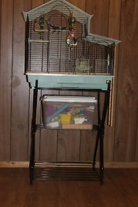 Bird cage and stand reduced price