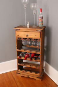 RUSTIC COUNTRY SOLID WOOD WINE LIQUOR CABINET