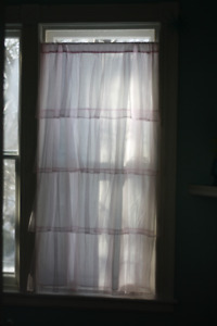 Tadpoles layered soft pink tulle lace curtain two panels