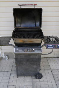 Barbecue with propane tank and cover