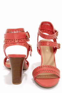 Bamboo Kendria 03 Coral Cutout High Heels West Island Greater Montréal image 1