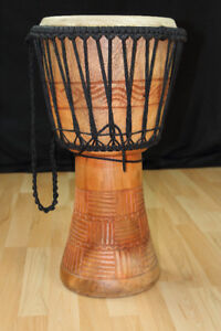 """24"""" X 12"""" Mint Djembe Hand Crafted"""