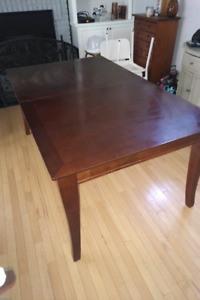 Mahogany costco dining table and buffet