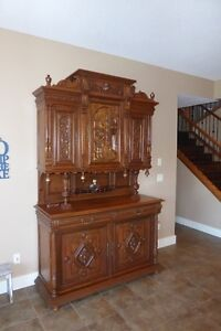 Wood Carved Buffet/Hutch