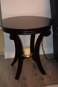 SOLID WOOD END TABLES (2)