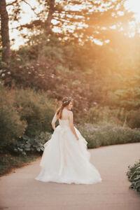 "Princess Wedding Dress, Size ""M"""