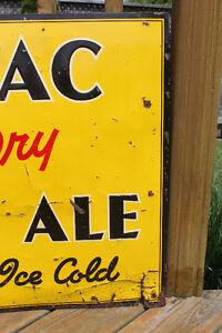 TWO 1940's Adanac Ginger Ale Signs London Ontario image 9