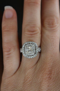 Beautiful Double Halo Diamond Ring