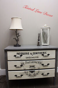 Grey white french design dresser