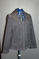 Gray jacket with button accents - size large
