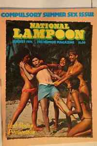 NATIONAL LAMPOON AUGUST 1976 SEX ISSUE Belleville Belleville Area image 1