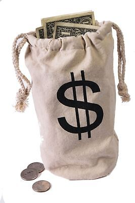 Money Bag fabric Police Heros Cops Robbers Halloween Costume Accessory](Money Bag Halloween Costume)