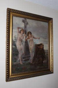 The Temptation of St. Francis oil painting circa 1943