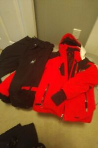 RED WHITE AND BLACK KIDS SIZE 8 SPYDER SKI SUIT