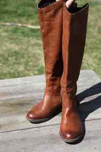 Remonte Brown Leather Riding Boots - Size 41