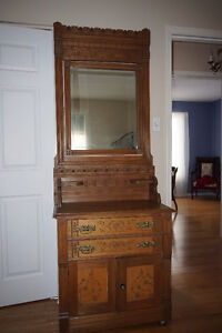 Very rare and mint antique eastlake dressers.