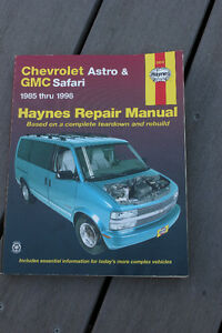 Chev Astro and GMC Safari Haynes Repair Manual 1985 - 1998