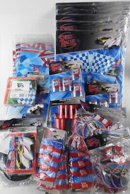 Hallmark Party Express SPEED RACER Huge lot of 40+ Party Items Decorations Decor - Party Items