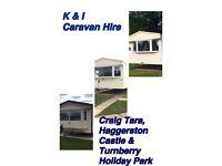 Caravan hire , Haggerston castle