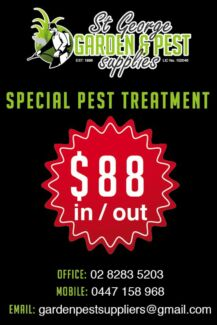 End lease flea treatment. Real estate cert. Do it with us $88--- Sutherland Area Preview