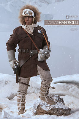 STAR WARS~CAPTAIN HAN SOLO~ECHO BASE-HOTH~SIXTH SCALE FIGURE~SIDESHOW~MIB