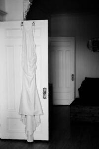 Beautiful backless Nicole Miller wedding dress