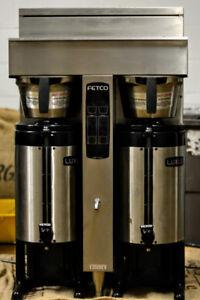 Fetco twin coffee brewer + Luxus vacuum pots
