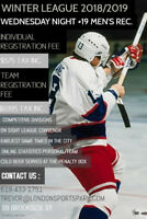 HOCKEY PLAYERS / TEAMS WANTED-  WINTER LEAGUE WEDNESDAY NIGHTS