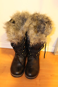 Sorel BLack Boots 11 for woman