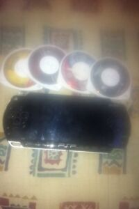 PSP with 3 games and movie