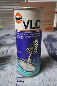 GULF VALVE LIFTER OIL TIN CAN