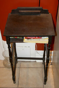 Antique Telephone Table with Chair
