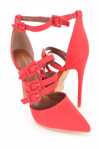 """4 3/4"""" Red close toe heels size 9. $70"""