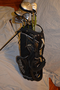 Mens RH golf set Graphite shafts / Irons, Wood, Bag, Putter