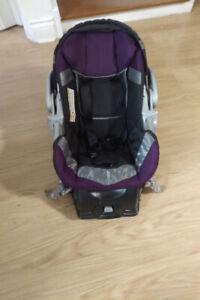 Black/Purple Car Seat