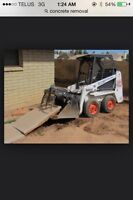 Dirt removal/ concrete / bobcat services