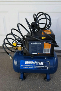 For Sale: Mastercraft 2 Gallon Air Compressor:  SOLD Thank you.