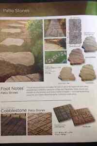 Foot Note Patio Stones - Color Tan Brown