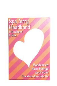 $3.29 Spa Terry Headband with velcro closure