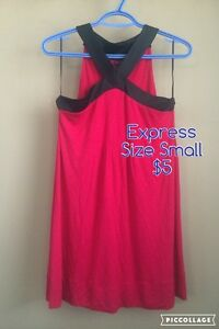 Express Pink/Black Shift Dress