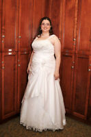 Alfred Angelo Plus Size A-line Corsetted Wedding Dress