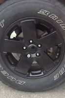 JEEP JK RIMS AND TIRES (BLACK)