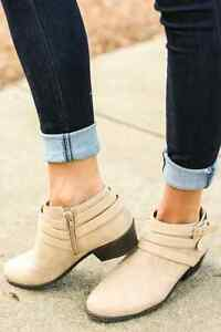 Brand New Taupe Ankle Boots