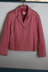 CLEO PETITE ALL SUEDE PINK JACKET